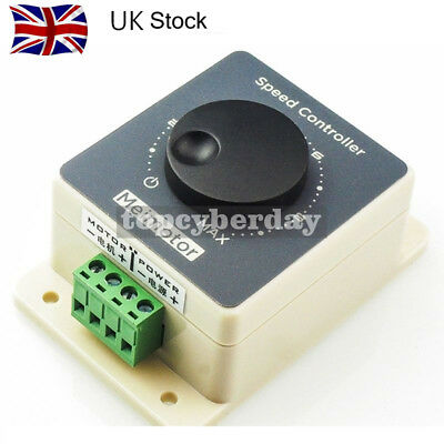 Waterproof DC Motor Speed Controller 10-60V 20A Pulse Width Modulator PWM #UK