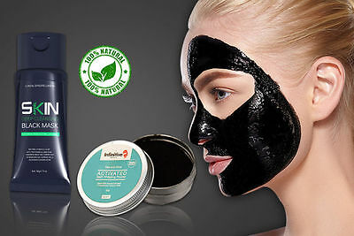 Carbón Kit extractor de puntos negros negro exfoliante Máscara & Natural