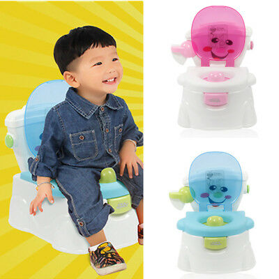 2 in 1 Toddler Potty Training Seat Baby Kids Fun Toilet Trainer Chair Boys Potty