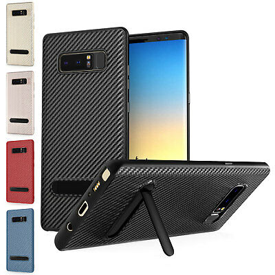 Premium Carbon Fibre Protective Stand Case Cover For The Samsung Galaxy Phones