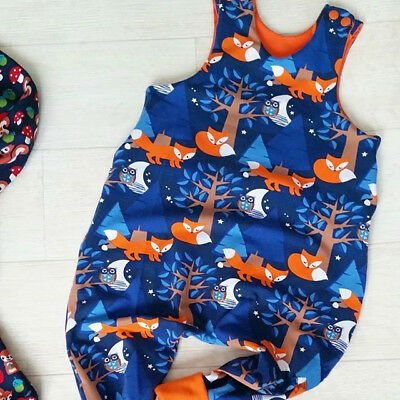 AU Canis Toddler Baby Boys Girls Cartoon Print Romper Bodysuit Jumpsuit Outfits