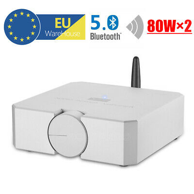 Mini Bluetooth 5.0 Audio Hi-Fi Power Amplifier Stereo Headphone Amp MOSFET 80W×2
