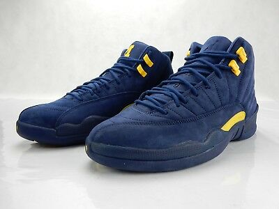sneakers for cheap cdcb0 a5c44 Nike Air Jordan 12 Retro Michigan College Navy Amarillo BQ3180-407 Size  10.5 DS