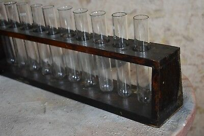 vintage props laboratory chemist glass test tube rack quirky decorative school