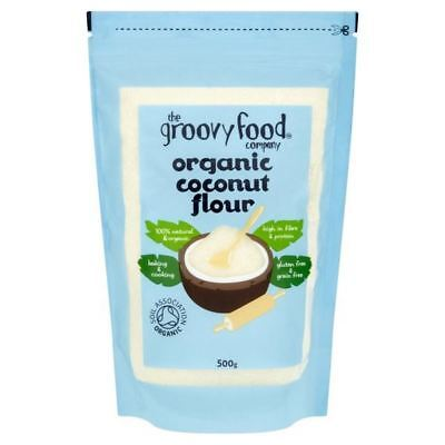 The Groovy Food Company Organic Coconut Flour 500g (Pack of 6)