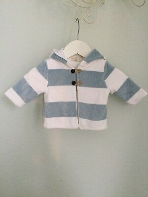 GAP KIDS Organic Cotton Velour Hooded Jacket  Age 0-3 Months