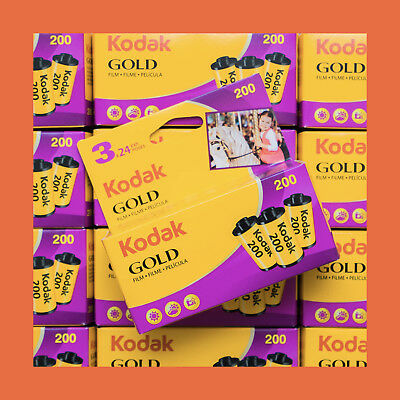 3x Kodak GOLD 200 35mm Colour Negative Film - FRESH (2020) Cheap 35mm Film!