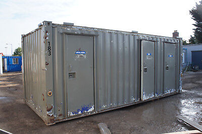 £1400+VAT 20' X 8' ISO Container Ladies & Gents Toilet Block (ref 183)