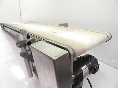 220M100500D0101  Flat Bed Conveyor37X11X2INwith leeson electric (Used Tested)
