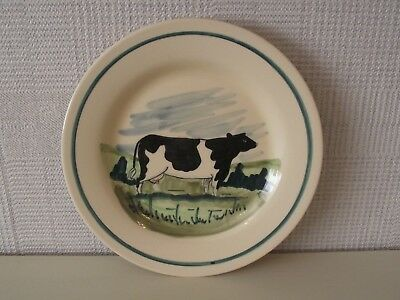 Oxney Green Rye Plate - Cow Design