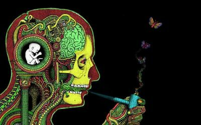156812 Psychedelic Trippy Wall Print Poster AU