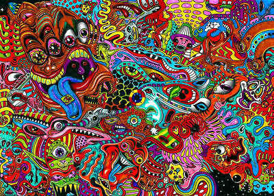 155601 Psychedelic Trippy Wall Print Poster AU
