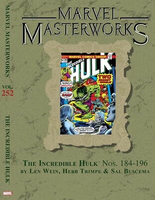 Marvel Masterworks Hulk volume 252 Hardback Variant Cover Edition sealed