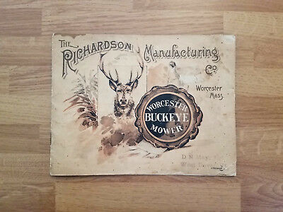Vintage 1892 Richardson Worcester Buckeye Mower Catalog Farm Implement Brochure