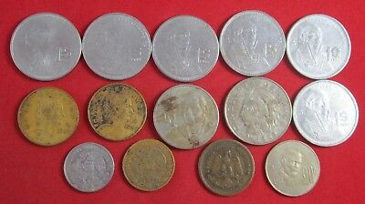 14 vintage Mexico coins, dating back to1941