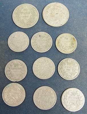 11 Old Chile, coins dating to 1923