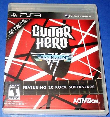 Guitar Hero Van Halen Sony Playstation 3 New Sealed Free Shipping 14 95 Picclick