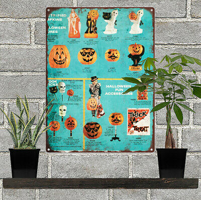 Vintage Halloween Ads.Vintage Halloween Blow Mold Advertising Ad Baked Metal Repro Sign 9