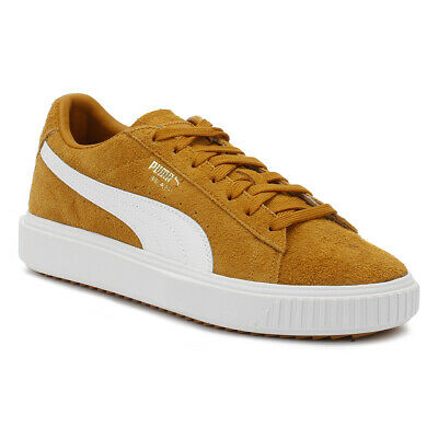 PUMA BREAKER LOW Top Suede Mens Grey White Lace Up Trainers
