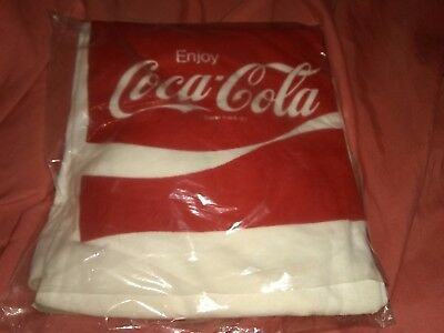 NOS NEW OLD STOCK Coca Cola Shirt Ringer style 1980s true vintage sealed in bag