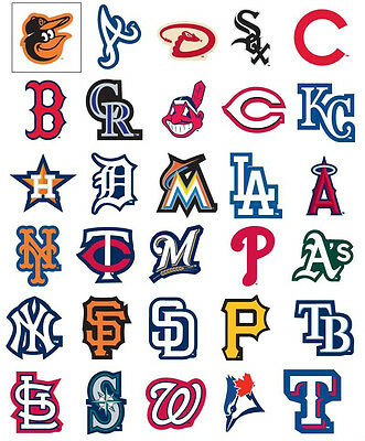 MLB Sticker / Aufkleber - Baseball - Alle Teams - Yankees, Cubs, Indians, Mets..