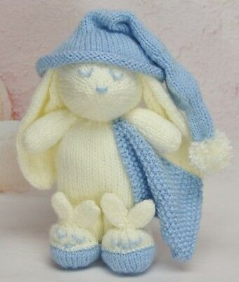 Winkie The Bunny Rabbit Toy Knitting Pattern Instructions To Make