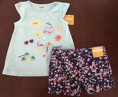 NWT Gymboree Girl Shore To Love  Anchor Tee /& Flower Shorts Outfit 2T 4T 5T