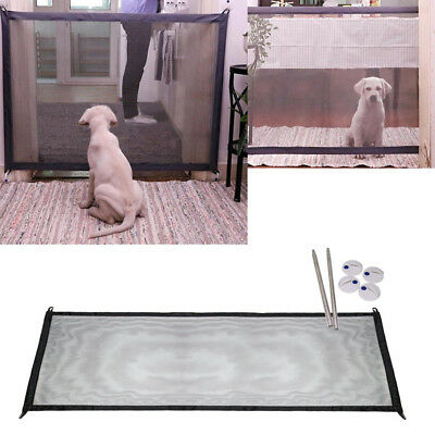Portable Magic Safe Gate Folding Safety Guard For Pets Dog Cat Isolated Gauze YH