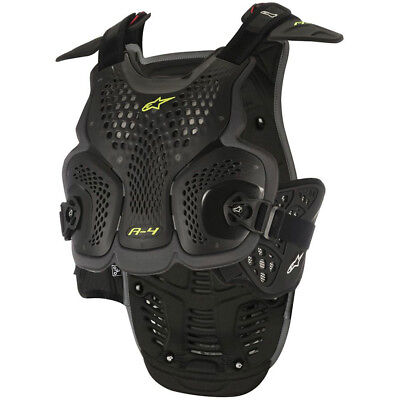 Alpinestars NEW Mx A-4 Black Yellow Adults Motocross Chest Armour Roost Guard