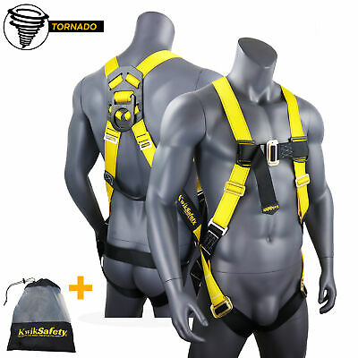 KwikSafety TORNADO ANSI Fall Protection 1-D Ring Construction Safety Harness
