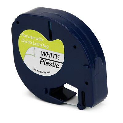 91331 Black print on White Compatible for DYMO Letratag 91331 Label Tape 1 Packs