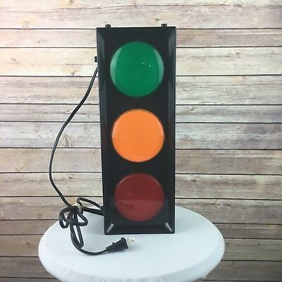 Stop Light Decor Electric Plug In Stand or Wall Mount Man Cave, Kids, Party