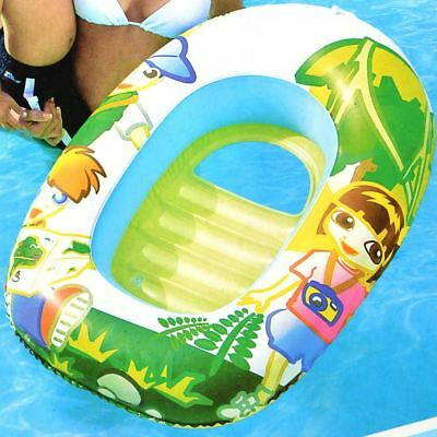Giant Baby Pool Inflatable Paddling Pond Glow Swimming Kids Summer Garden Boat