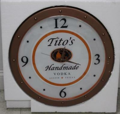 Tito's Collectible Vodka Clock, Still in Box. Never USED