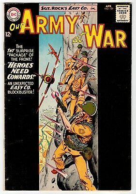 DC - OUR ARMY AT WAR #129 - Kubert Cover & Art - VG 1963 Vintage Comic
