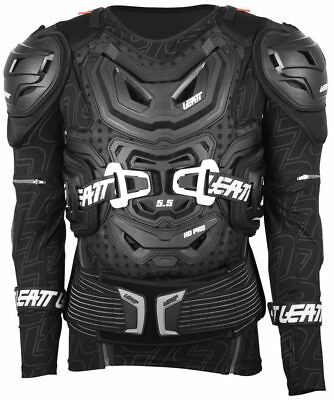 Leatt NEW Mx 5.5 Black Chest Protector Roost Guard Motocross Body Armour Suit