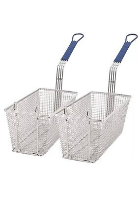 Sets Of Commercial Heavy Duty Chip Fish Fat Fryer Basket, 340x165x150mm