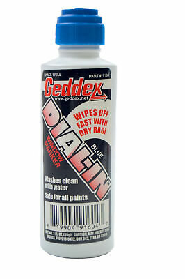 Geddex Ged-916D Dial In Window Marker Chalk Blue Racing Marker Easy Wipe Off