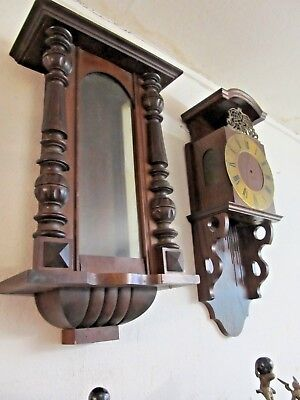 Old wall clock case 2 Piece