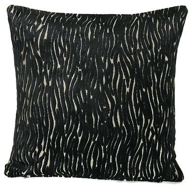 "x3 Special Edition Designer Poaletti Black and Gold Cushion Covers 18 x 18""/45cm"