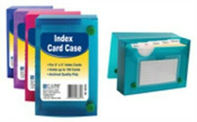 "C Line Products Inc 58335 3"" X 5"" Index Card Case Assorted Colors"