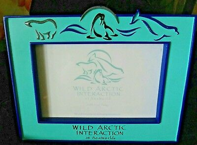Sea World Picture Frame Wild Arctic Interaction (Holds 4x6 Photo) #64702 Blue