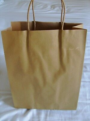 Brown Coloured Kraft Twisted Handle Paper gift shopping Bags pack of 20 M size
