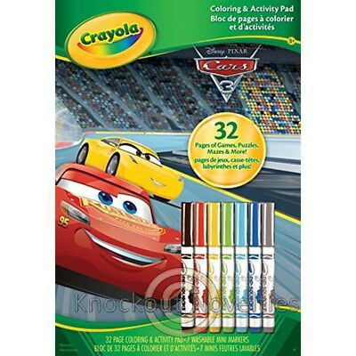 Coloring Activity Pad with Markers - Cars 3 Fun Play Draw Art Crafts Learn