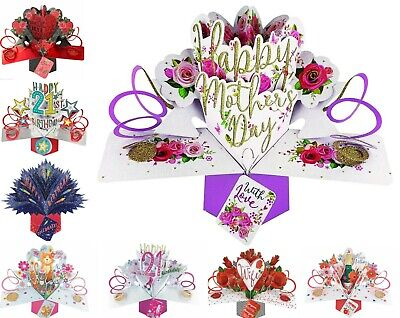 Keepsake All Occasions Pop Up Cards Birthday Anniversary Wedding Day 3D