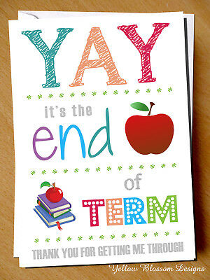 Joke Funny Teacher Card Leaving End Of Term Thank You Teaching Assistant Cute