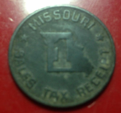 Old Missouri Sales Tax Receipt Token/Coin