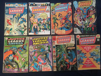 JUSTICE LEAGUE OF AMERICA - Lot of 8 Silver/Bronze Age books: #36,49,87,108...