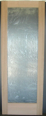 """Cherry French Interior Door with Flat Clear tempered glass 30"""" x 80"""" x 1-3/8"""""""