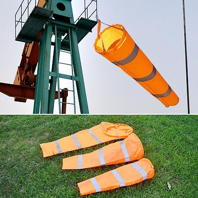 "30""40"" 60"" Airport Windsock Rip-stop Outdoor Wind Measurement + Reflective Belt"